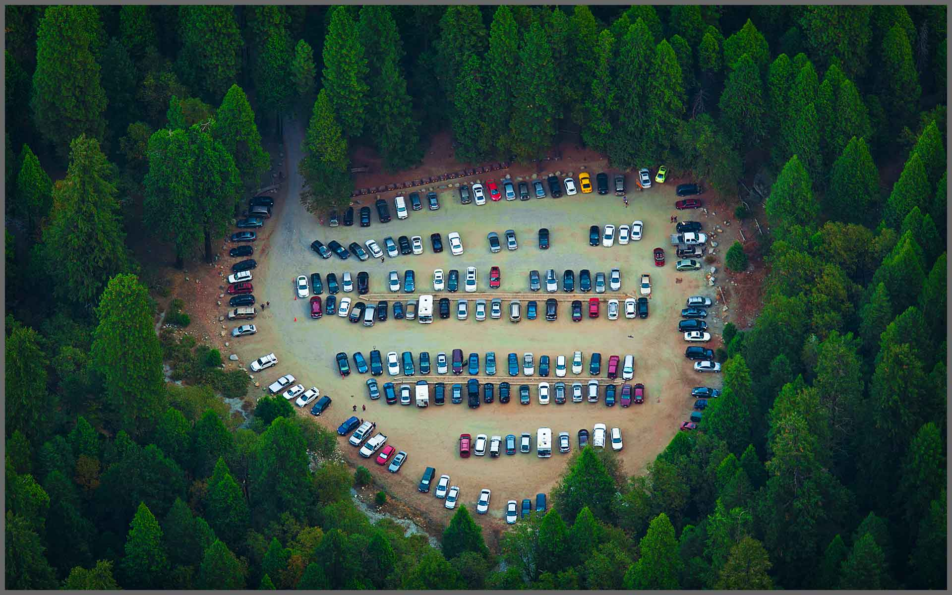 Yosemite Valley Parking Lot